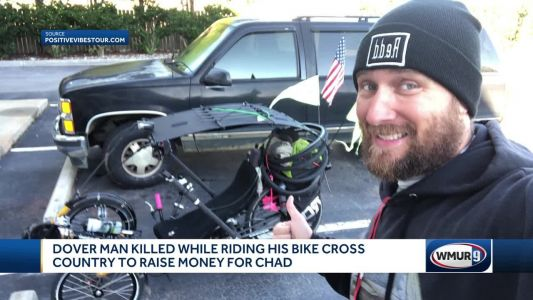 Man killed in crash while cycling across country
