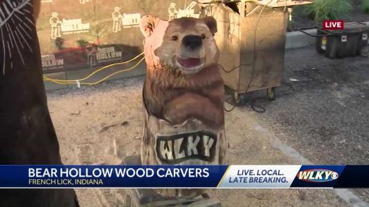 Behind the scenes look at Bear Hollow wood carving in French Lick