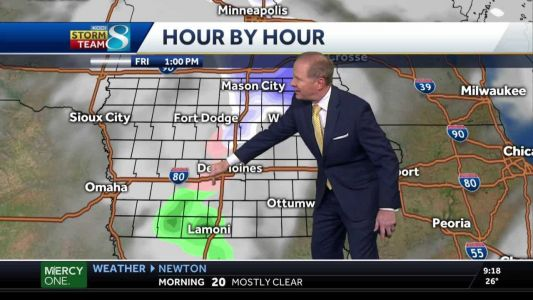 Chance for rain to kick off chilly weekend