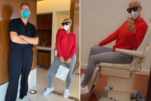 Amber Rose takes a break from quarantine to get Botox injections