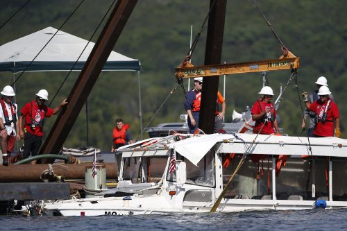Rescuer in duck boat disaster sues over PTSD