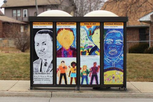 Student art honors MLK's legacy on 2 Milwaukee bus stops