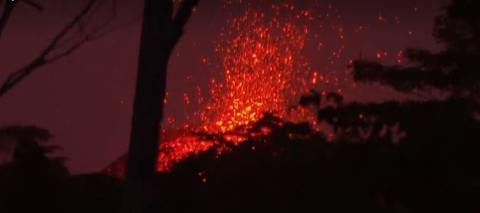 Lava destroys warehouse at power plant site on Hawaii's Big Island