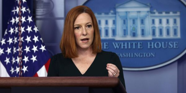 Psaki says the White House won't disclose how many vaccinated staffers have tested positive for COVID-19