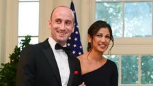 Trump Attends Wedding Of White House Aides Stephen Miller And Katie Waldman
