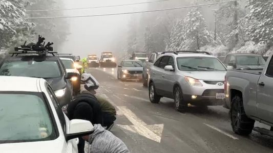 CHP asks drivers to stay home amid snowstorms