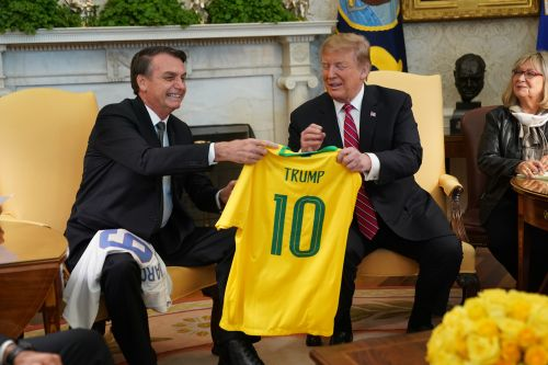 Right-wing movements merge as Bolsonaro visits Trump