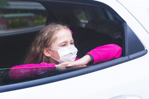 For a COVID-safe car ride, open at least two windows halfway and wear a mask