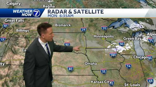 Sunny, cool Monday, ice jam flooding continues