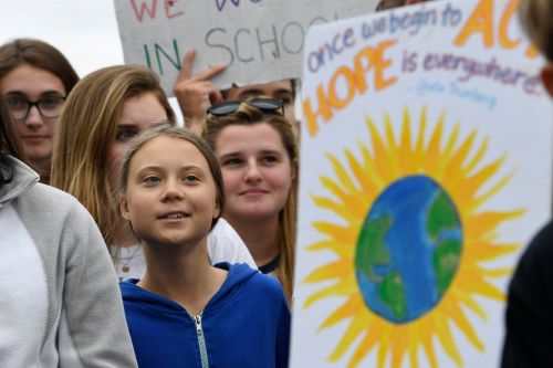 Greta Thunberg brings climate protest to Washington: 'You can't breathe money'