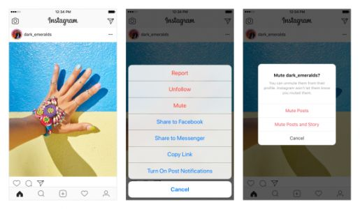 Instagram adds option to mute posts in your feed