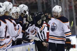 Larsson scores 1st goal in a year, Oilers beat Panthers 4-1