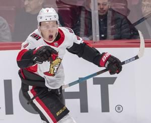Tkachuk scores in OT, Senators beat Canadiens 2-1