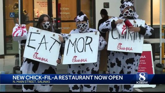 Chick-Fil-A opens in Salinas with long lines