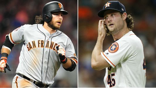Gerrit Cole 'not terribly disappointed' about brother-in-law Brandon Crawford taking him deep