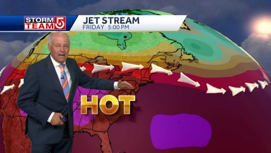 Video: Triple-digit heat moving into New England