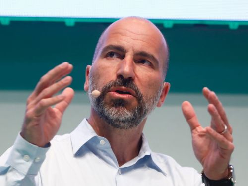 Uber's Dara Khosrowshahi got into a Twitter spat with a rival food delivery CEO over plans to launch Uber Eats in Germany