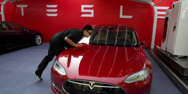 Tesla jumps after Goldman Sachs upgrades the automaker's stock and boosts its price target by 40%
