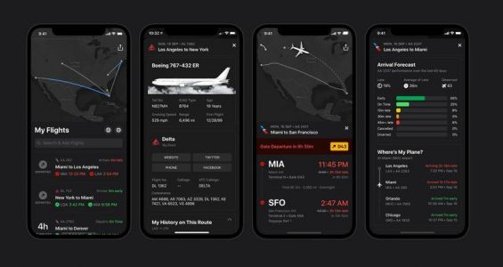 Flight tracker Flighty updated with Dark Mode and more