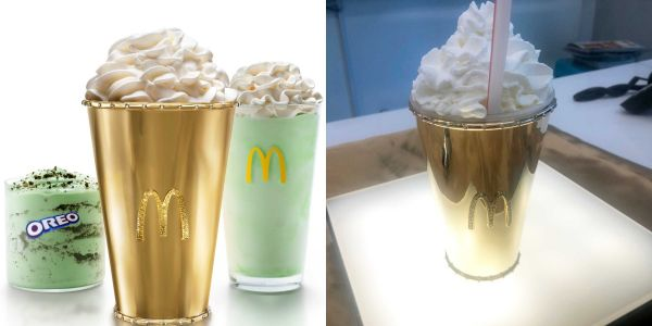 Feeling lucky?: McDonald's is auctioning off a golden Shamrock Shake worth $100,000
