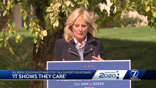 Dr. Jill Biden and Doug Emhoff visit military families in Papillion