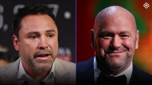 Oscar De La Hoya challenges UFC's Dana White: 'Let's get in the ring'