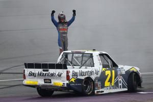 Zane Smith scores first NASCAR win in overtime at Michigan