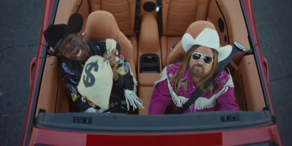 Lil Nas X released a music video for his hit 'Old Town Road' that features Chris Rock and Billy Ray Cyrus