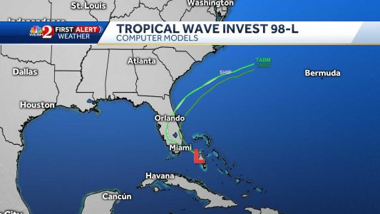 Invest 98 forms in Bahamas; rainfall chances increase for Central Florida