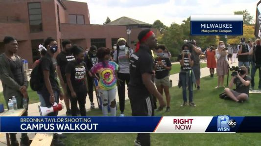 Marquette students, athletes march for justice for Breonna Taylor