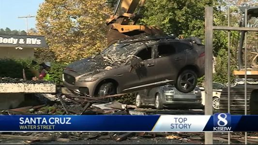 Early morning fire at Santa Cruz car dealership