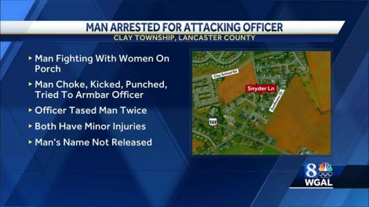 Lancaster County police officer says they were attacked while making arrest