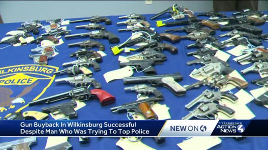 Street corner competition for Wilkinsburg police gun buyback program; constable from Harmony Township cited