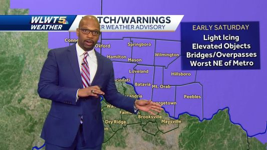Light Ice Possible Early Saturday
