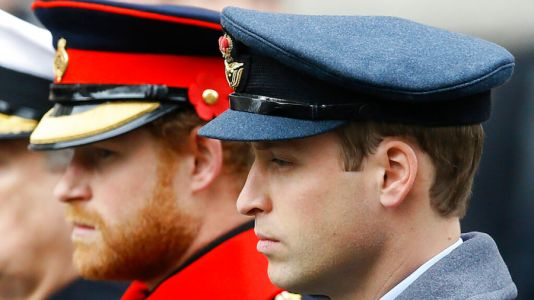 Princes William, Harry won't walk next to each other at Philip's funeral