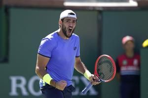 Fernandez beats 9th seed to reach 3rd round at Indian Wells