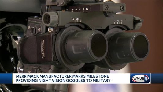 Local manufacturer marks milestone providing night vision goggles to military