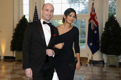 Trump attends wedding of Stephen Miller