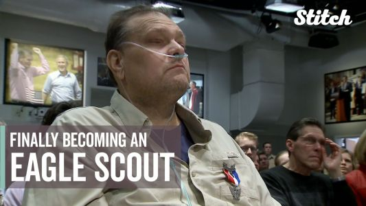 After 35 years, former police officer finally earns his Eagle Scout rank