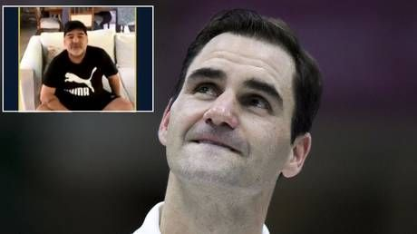 'If you have any trouble in my country, just call me': Federer tears up as Maradona sends him touching personal message