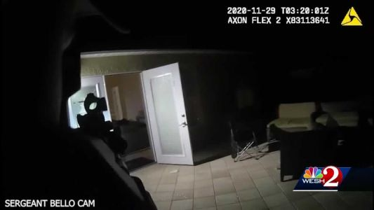Dramatic body camera footage shows suspects trying to escape home invasion