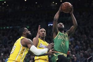 Kemba beats LeBron for 1st time, Celtics top LA 139-107