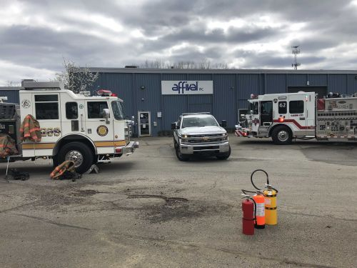 Three people taken to hospital after chemical fire inside Plum business