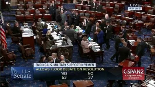 Rebuking Trump's policies, Senate to vote on U.S. support for Saudi Arabia in Yemen