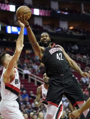 Harden scores 29 to lead Rockets past Blazers 111-103