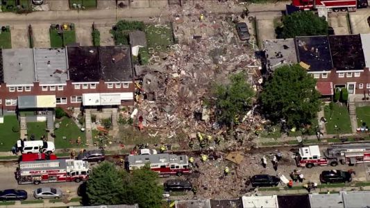 SkyTeam 11 shows extent of Baltimore rowhome explosion
