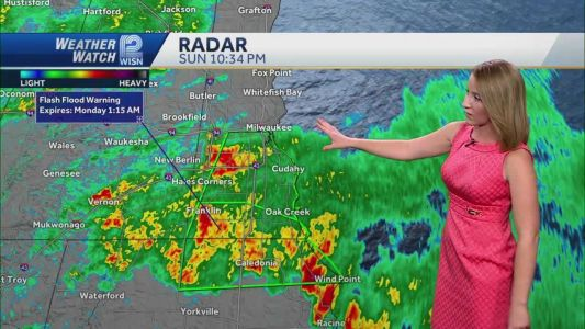 Videocast: Flash flood warnings Sunday night