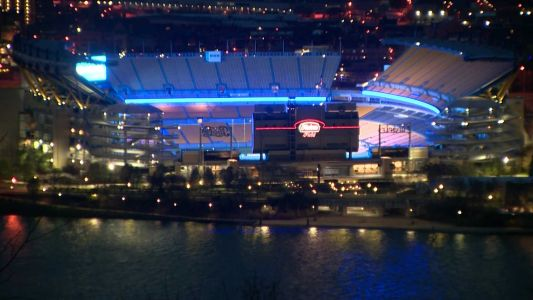WATCH: Heinz Field lights up in blue to support essential workers on COVID-19 front lines