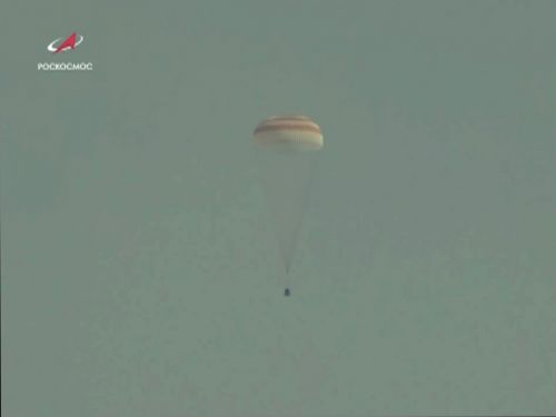 Soyuz Capsule Returns Station Crew to Earth After 204 Days in Space