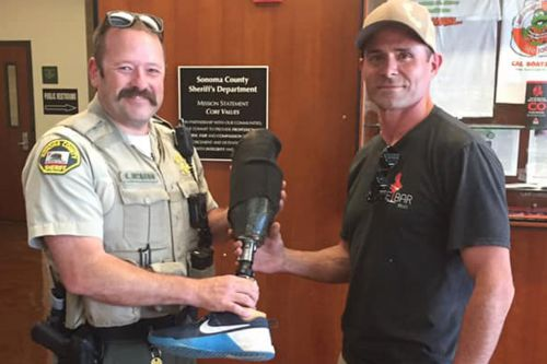 Skydiver reunited with prosthetic leg he lost at 10,000 feet